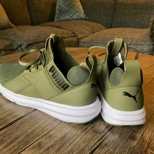 Puma Shoes   Army Green Puma Memory